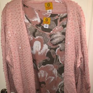 2 piece sequin top and sweater from Dillard's